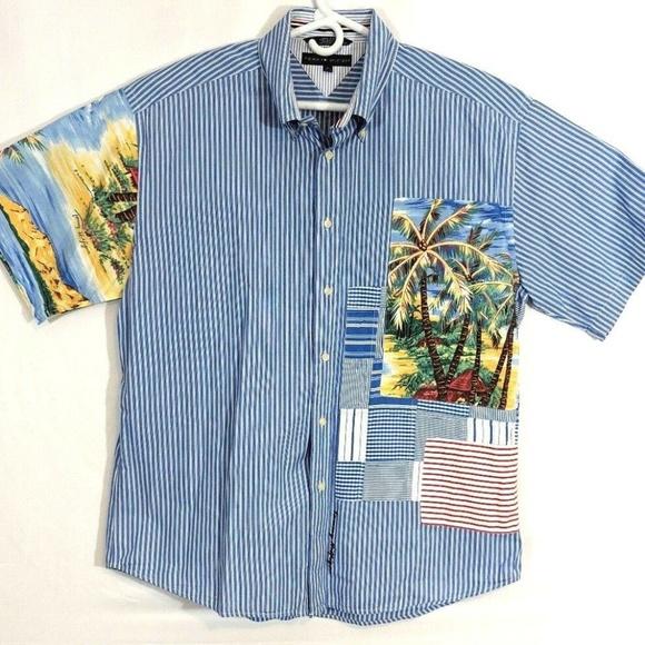 Tommy Hilfiger Other - Tommy Hilfiger Mens Hawaiian Shirt Short Sleeve XL